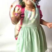 Pink Seabrook as backpack